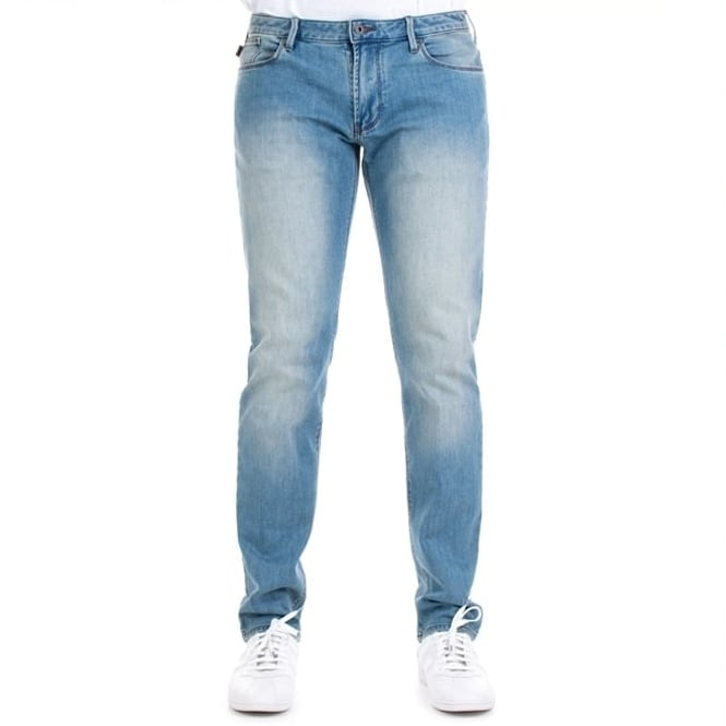 e76a8b94b Emporio Armani Emporio Armani J06 Slim Fit Light Blue Washed Denim Jeans  3Z1J06 1DLRZ