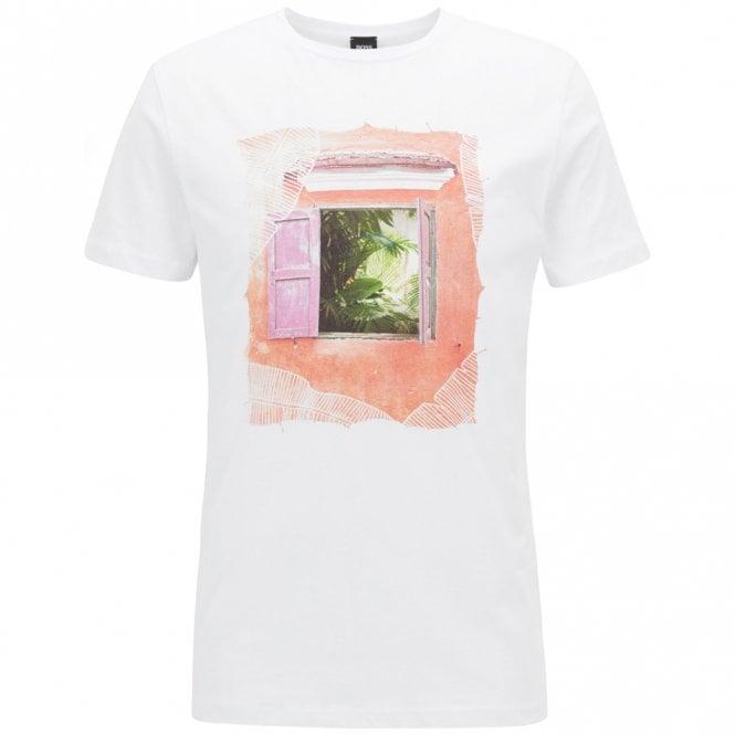 6a34b23b Boss Orange Boss Orange Tauno 6 White Printed T-Shirt 50384597 ...