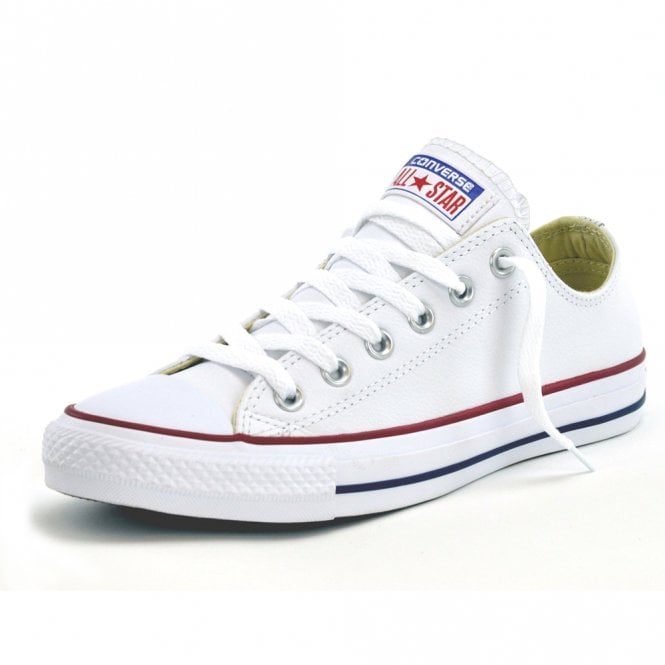 d29d6684a6b8 Converse Footwear Converse All Star White Leather Ox Trainers ...