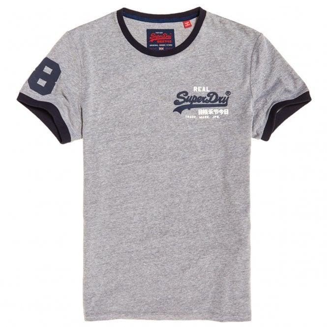 d0a864ba Superdry Superdry Vintage Logo Ringer Tee T-Shirt Grey Marl VN6 ...