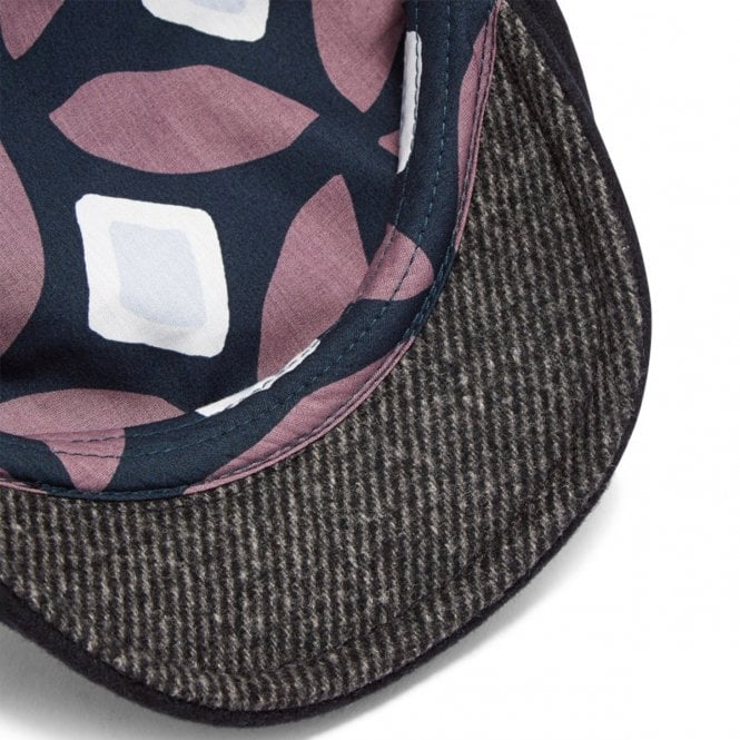 c9a61bc34babed Ted Baker Ted Baker English Navy Blue Herringbone Flat Cap - Ted ...
