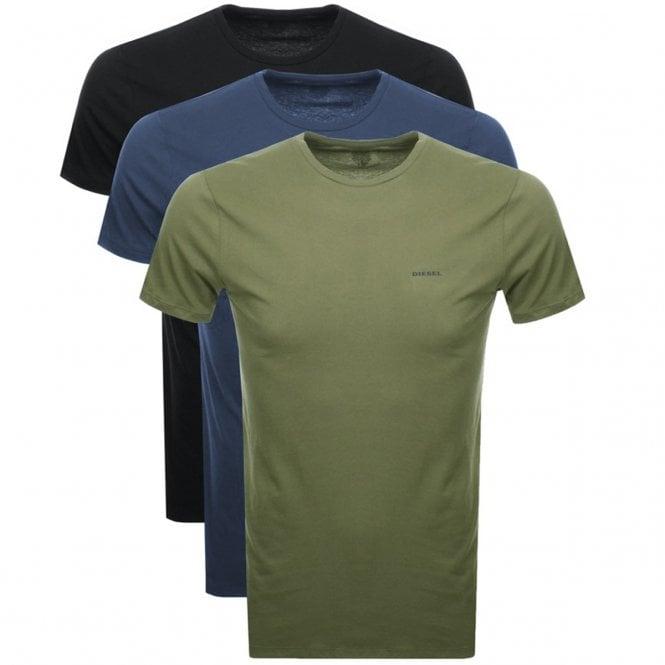 7de07543 Diesel Diesel Jake 3 Pack Plain Khaki/Black/Navy Crew Neck T-Shirts ...