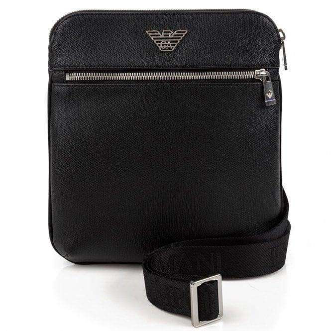 Emporio Armani Emporio Armani Black PU Side Bag Y4M185 YLA0E ... 2e63480d88112
