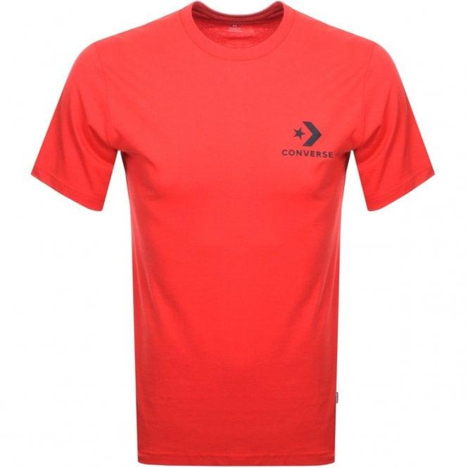 a42a75f3c41e Converse Converse Small Chevron Logo T-Shirt Red 10007886 - Converse ...