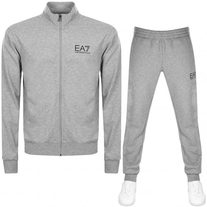 Emporio Armani Cotton Zip Up Hooded Navy Tracksuit 100% Original Activewear Activewear Tops