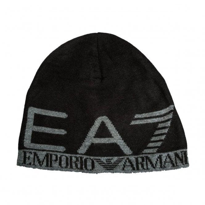 ab96d155855 EA7 Emporio Armani EA7 Emporio Armani Black Beanie Hat 275560 8A301 ...