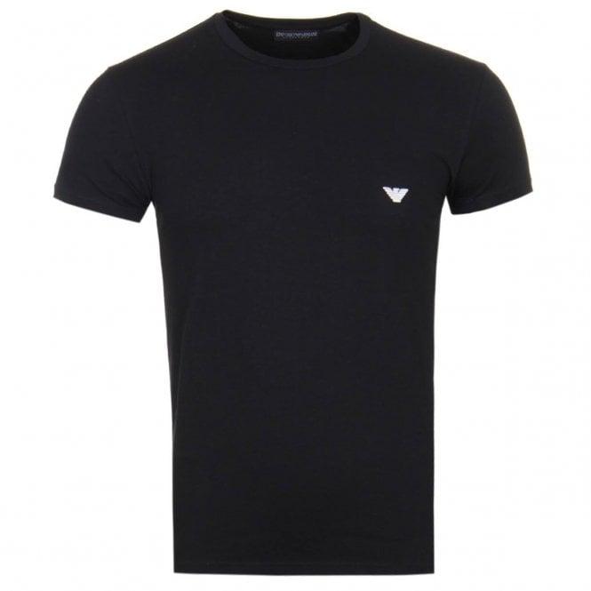 f9d32b4dc Emporio Armani Embroidered Logo Stretch Underwear T-Shirt Black 111035 8A512