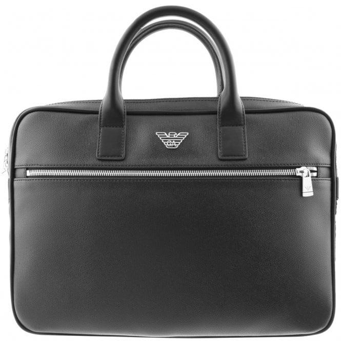 5b7c377d74fc Emporio Armani Emporio Armani Black PVC Small Briefcase Bag Y4P092 ...