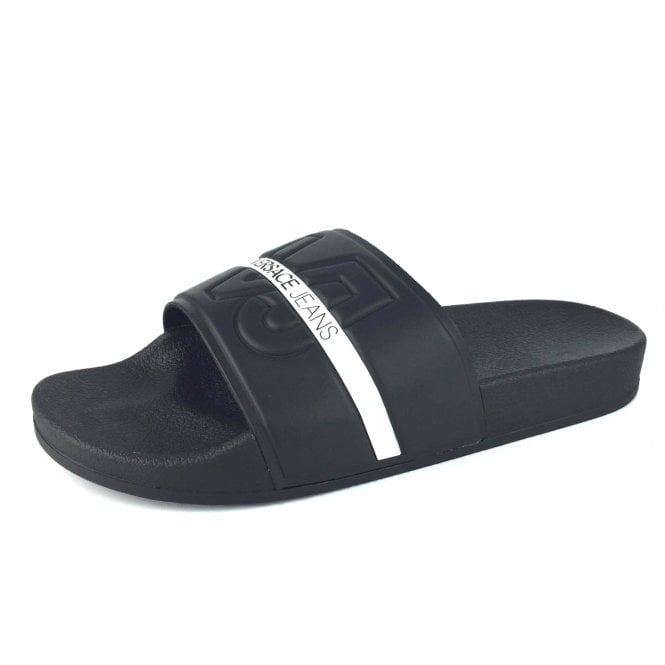 38faab542cff2 Versace Jeans Versace Slides Slippers Black E0YSBSL1 - Versace Jeans ...