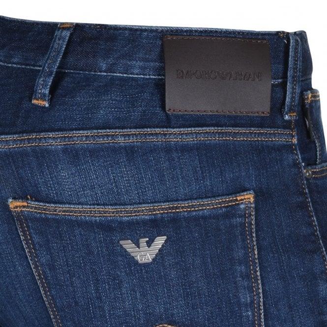 emporio armani j06 slim fit jeans blue