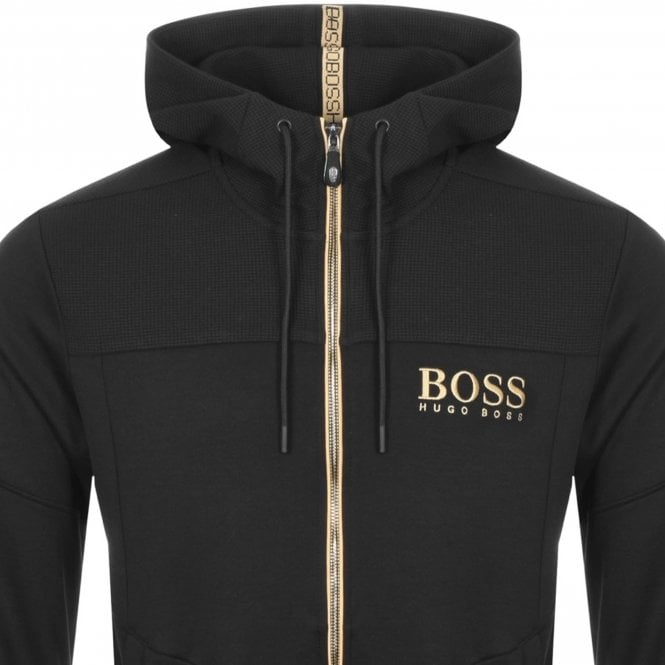 3c1e8b57b Boss Green Boss Saggy Black 003 Zip Up Hoody Sweatshirt Jacket ...