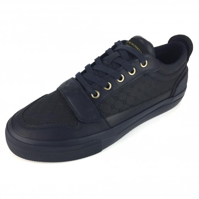 b09c10b4807 Creative Recreation Creative Recreation Legato 318 Navy Quilted PU Mix  Trainers