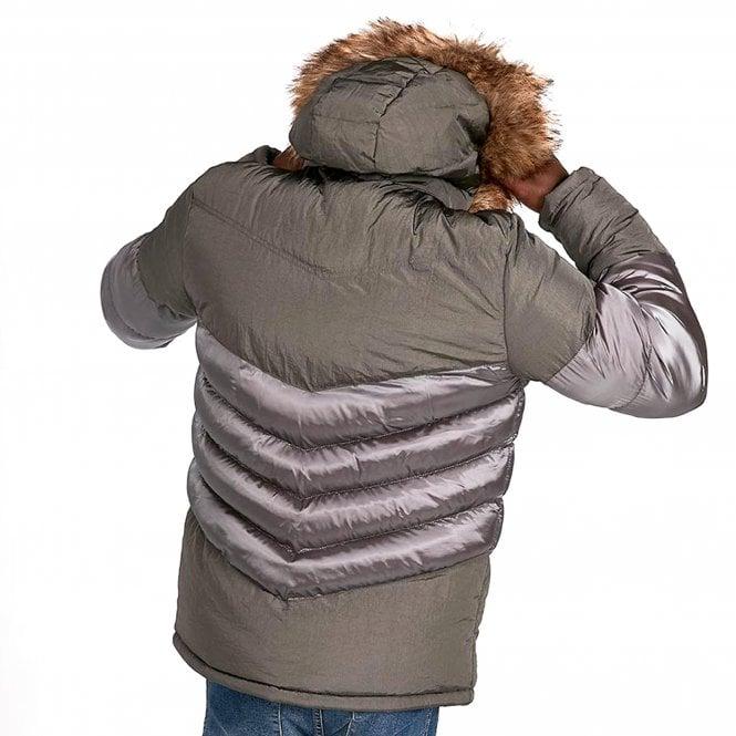 e0eaacd58 4bidden 4Bidden Aspen Chevron Grey Quilted Hooded Puffer Jacket ...