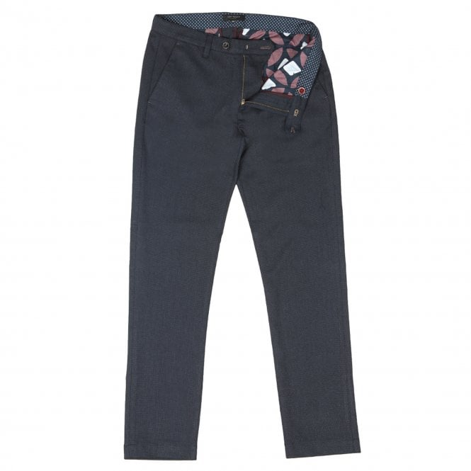 619e8321e7af Ted Baker Ted Baker Willham Slim Fit Textured Trousers Navy - Ted ...