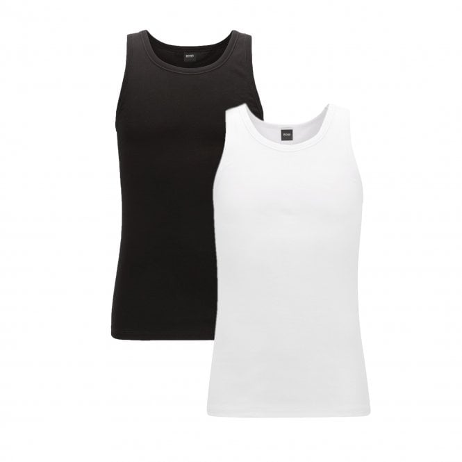 46774a8a Hugo Boss Hugo Boss 2 Pack Vests White & Black 50325406 - Hugo Boss ...