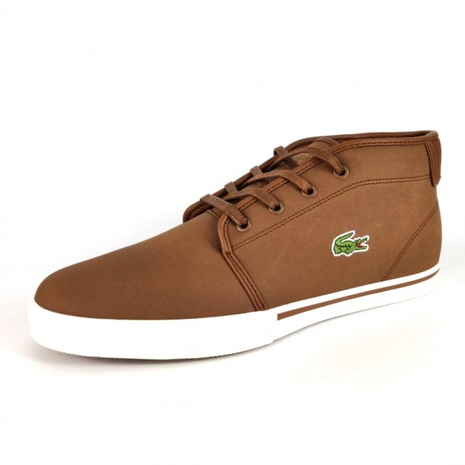 0a15b96ad Lacoste Footwear Lacoste Ampthill 119 Brown Leather Trainer Boots ...