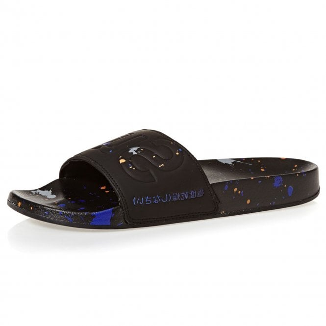 2cf099c26602 Superdry Superdry Black Paint Splat Pool Slide Sandals TC4 ...