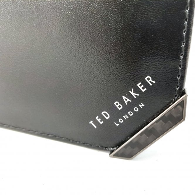 79ef41cffac Ted Baker Ted Baker Boozip Black Leather Bi-Fold Wallet With Coin ...