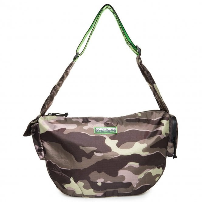 7d5c57137a Superdry Superdry Damon Side Messenger Bag Army Camo Green R2Q ...