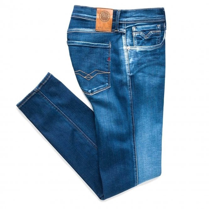 Anbass Hyperflex Slim Fit Jeans Mid Blue M914Y 661 319 007