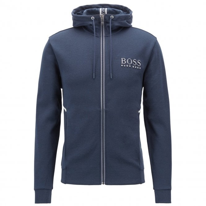 f82dff2d8 Boss Green Hugo Boss Saggy Navy Zip Up Hoody Sweatshirt Jacket ...