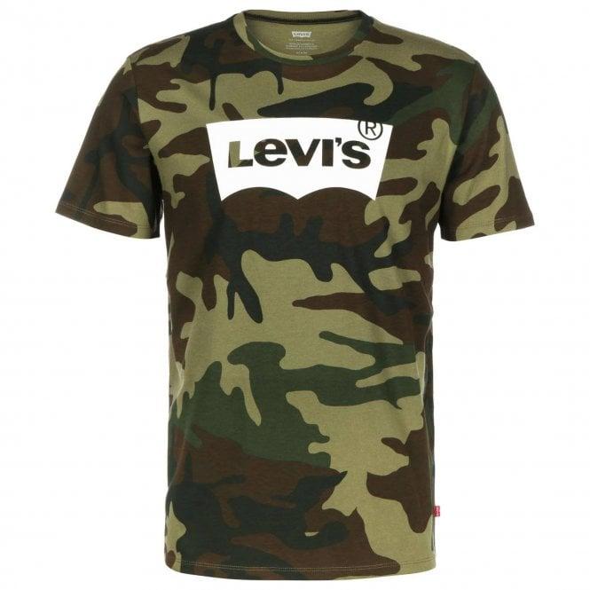 246ff1b0 Levi's Levi's Batwing Logo Green Camo T-Shirt 22489 0159 - Levi's ...
