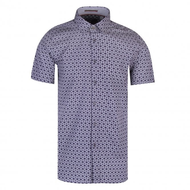 c60a61874 Ted Baker Ted Baker Enyone SS Hex Line Geo Print Shirt Navy - Ted ...