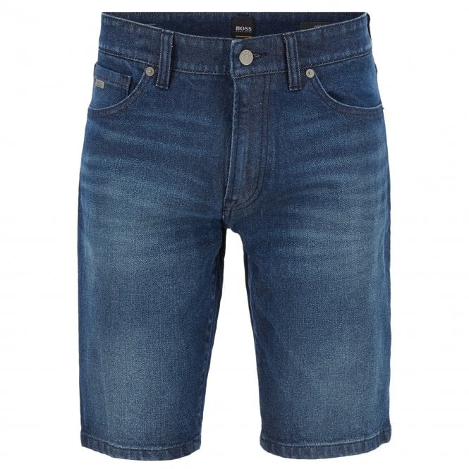 2b447c8a7 Boss Orange Hugo Boss Maine Blue Stretch Denim Shorts 404 50405599 ...
