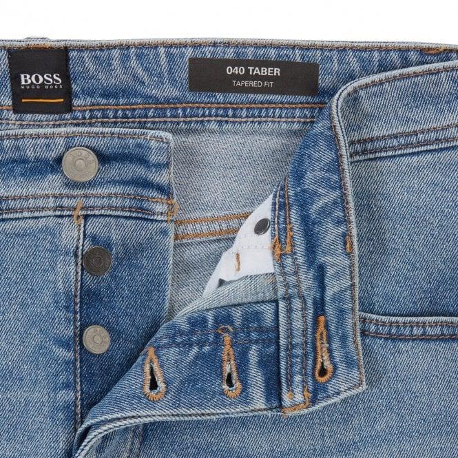 4d962c7857c10 Boss Orange Hugo Boss Taber BC-C Coast Light Blue Tapered Fit Jeans 438  50404605