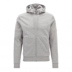 5d8ec827 Boss Green Saggy Zip Up Hoody Sweatshirt Jacket Grey Marl 059 50379119