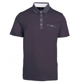 d9aa396e67ebcb Ted Baker Ted Baker Perpool Floral SS Printed Polo Shirt Grape - Ted ...
