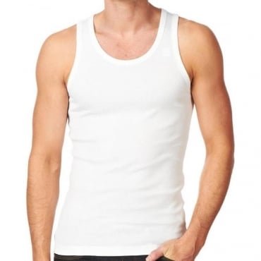 Base Tank T Plain Vest White Scoop Neck 8752.124.110
