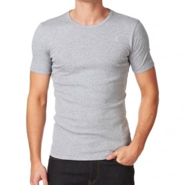 Base T-Shirt Plain Grey Crew Neck 8754.124.906