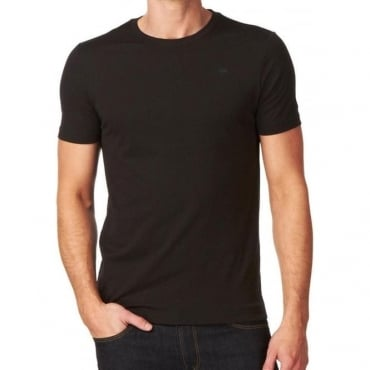 Base T-Shirt Plain Black Crew Neck 8754.124.990