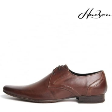 Livingston Brown Pointed Lace-up shoe Leather