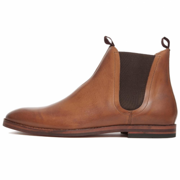 Hudson Tamper Tan Leather Chelsea Boots