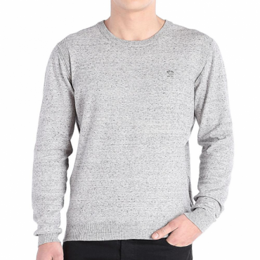 Diesel K-Maniky Thin Knit Jumper Grey Marl