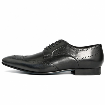 Hudson Goring Black Brogue Style Shoe Soft Leather