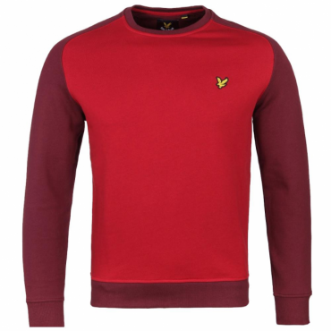 Lyle & Scott Saddle Shoulder Sweatshirt Claret Red ML423V