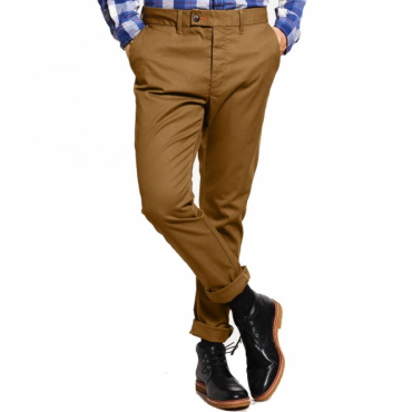 Superdry City Slim Chinos Tabacco Brown XNH