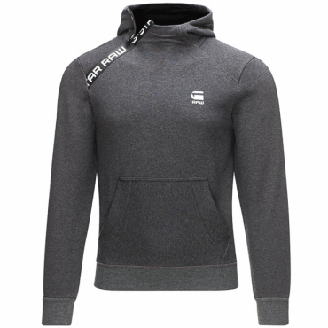 G-Star Core Zip Overhead Hoody Sweatshirt Grey Black D02299