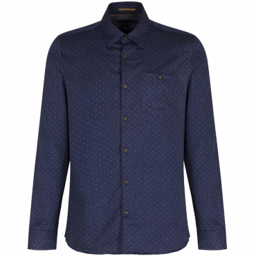 Ted Baker Maiter LS Double Sided Print Shirt Blue