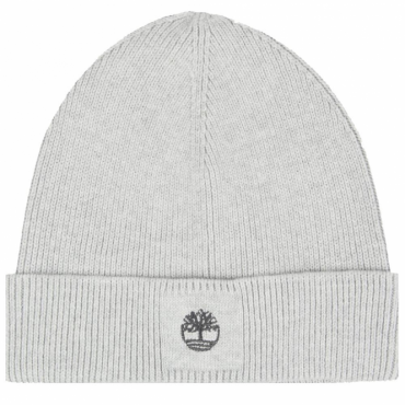 Timberland Grey Cotton Beanie Hat With Turn-up T21288