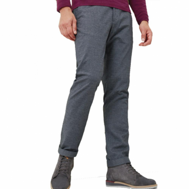 Ted Baker Wegton Classic Fit Brushed Cotton Trousers Mid Grey