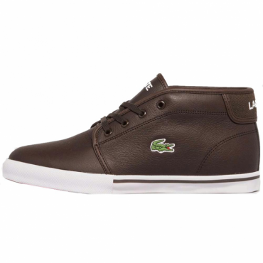Lacoste Ampthill LCR3 Dark Brown Leather Trainer Boots