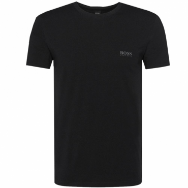 Hugo Boss Logo Black Fitted Stretch T-Shirt