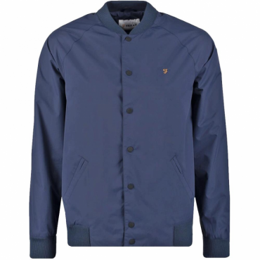 Farah Bellinger Navy Bomber Jacket F4RS6003