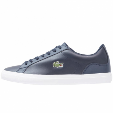 Lacoste Lerond BL CAM Navy Blue Leather Trainers