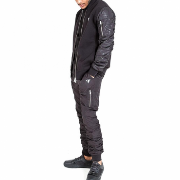 Creative Recreation Avica Black Full Zip Up Bomber Tracksuit