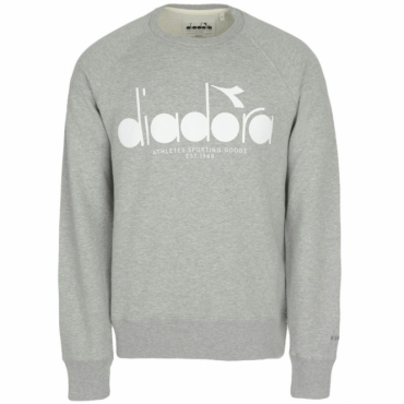 Diadora Light Grey Crew Neck Sweatshirt 502.161925